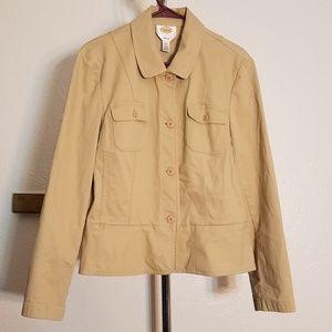Talbots Stretch Khaki Jacket